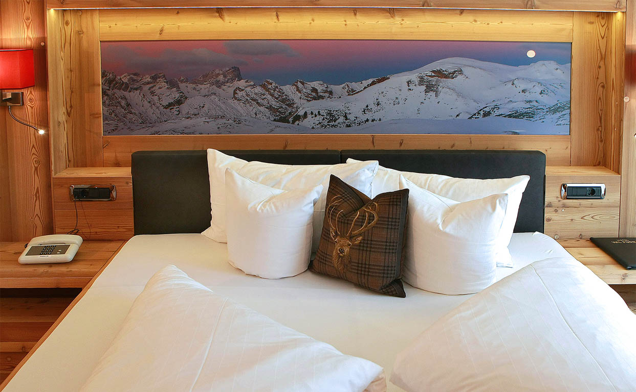 Double room with view to Gruppo Sella